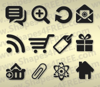 250+ Photoshop Web Icons Shapes (CSH)