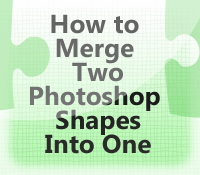 Merge Photoshop Shapes into One Combined Shape Easily