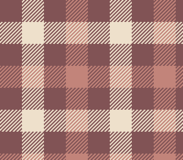 Taupe Tartan Check Plaid Pixel Pattern Vector (SVG)