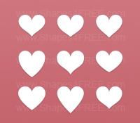 55 Hearts Photoshop Amp Vector Shapes Csh Photoshop